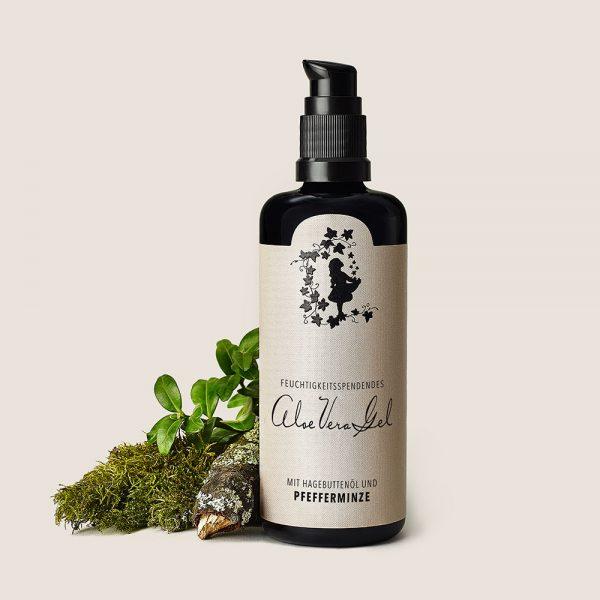 Aloe Vera Gel mit Hagebuttenöl und Pfefferminze