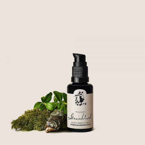 Gesichtsöl – reines Mandelöl mit Ringelblumenblüten